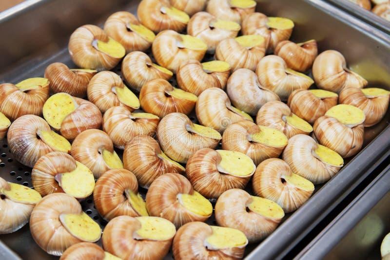 煮熟的蜗牛纤巧 库存照片