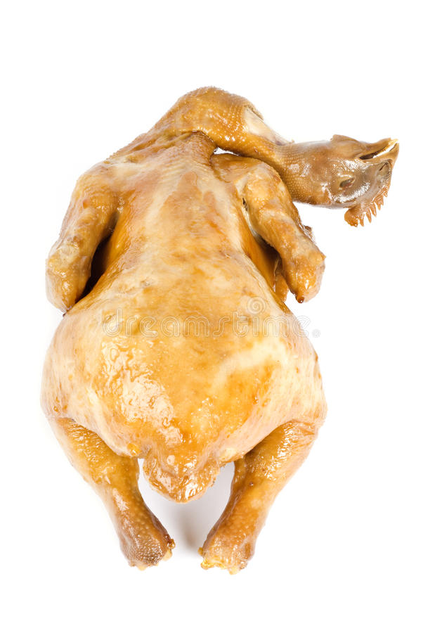 煮熟的鸡 库存图片
