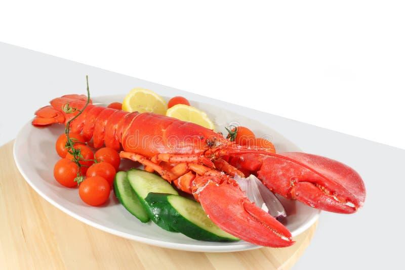煮熟的龙虾 免版税图库摄影