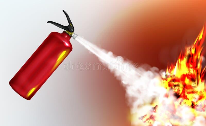 熄灭与灭火器传染媒介的火焰 皇族释放例证