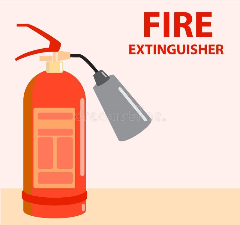 熄灭在平的样式的火 r 库存例证