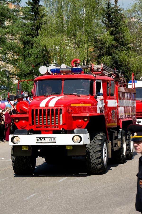 熄灭的火机器根据汽车乌拉尔5557 库存照片