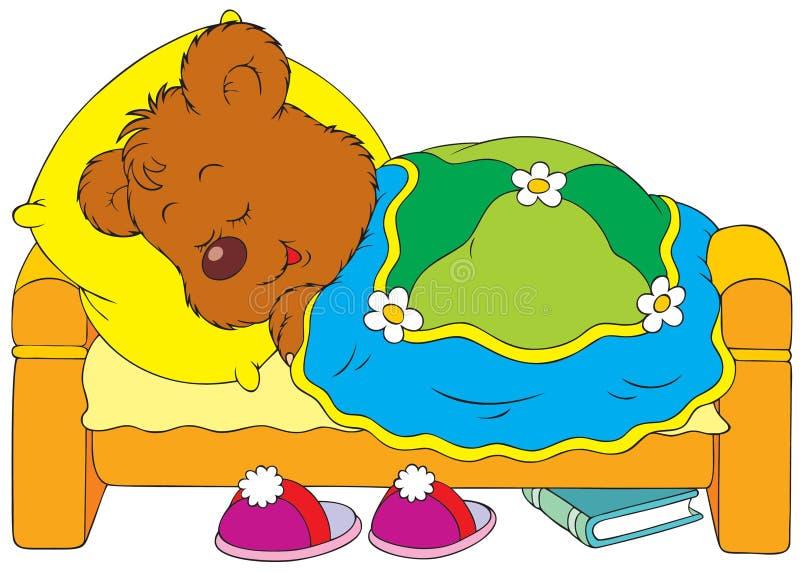 熊休眠 库存例证