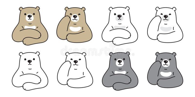 熊传染媒介北极熊象卡通人物女用连杉衬裤商标例证乱画 皇族释放例证
