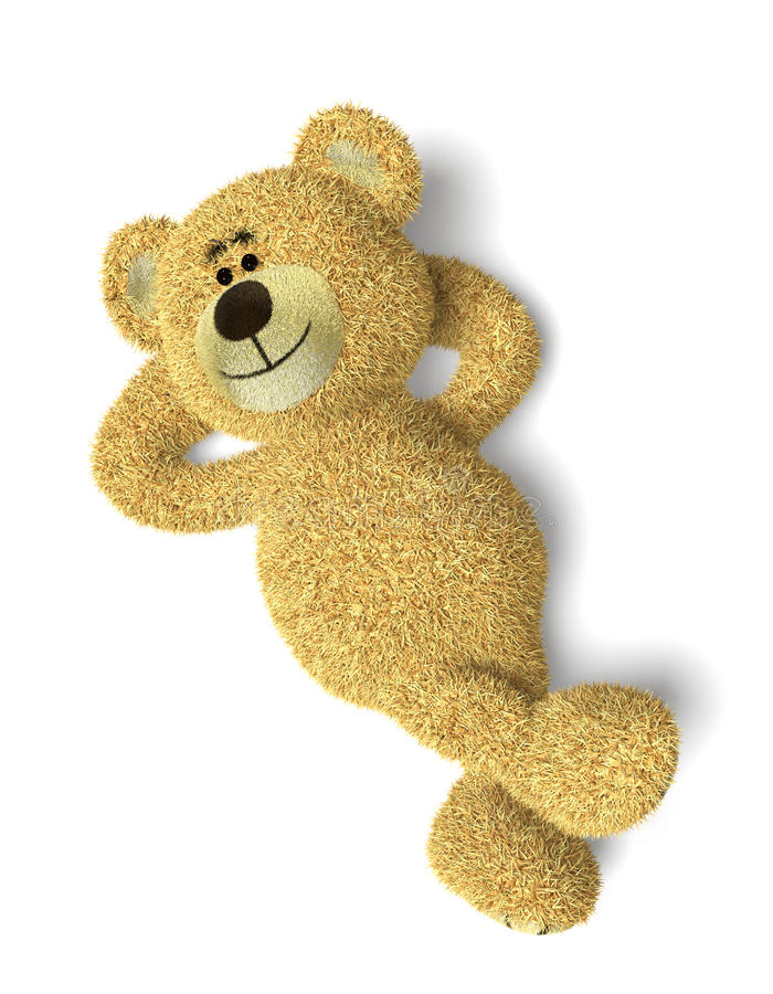 熊位于的nhi放松了 库存例证