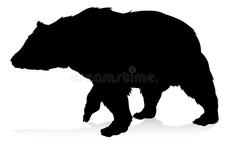 熊动物剪影 皇族释放例证