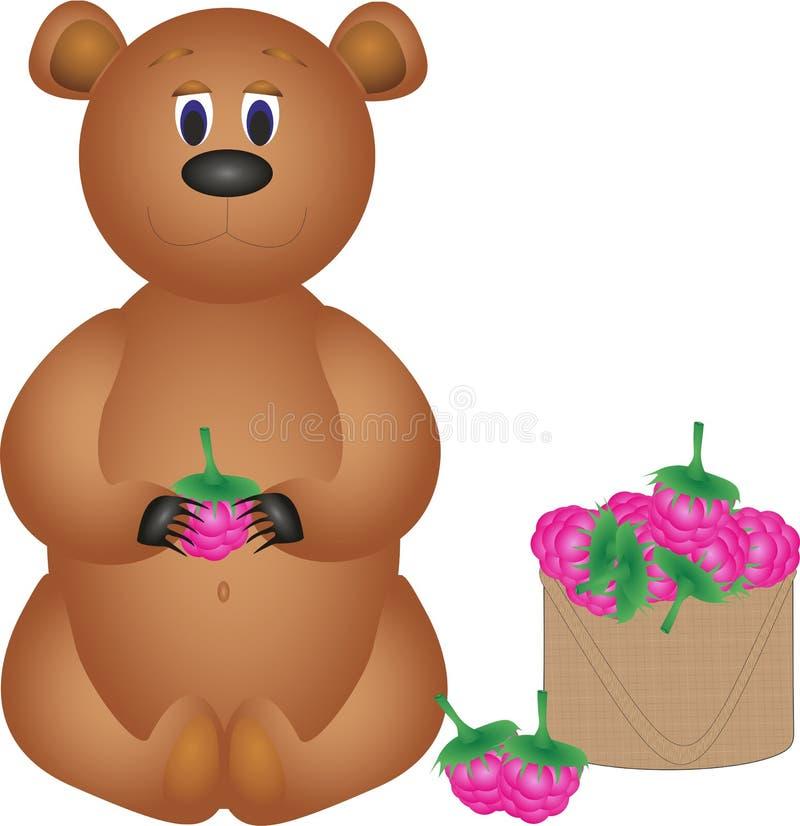 熊吃莓 库存图片