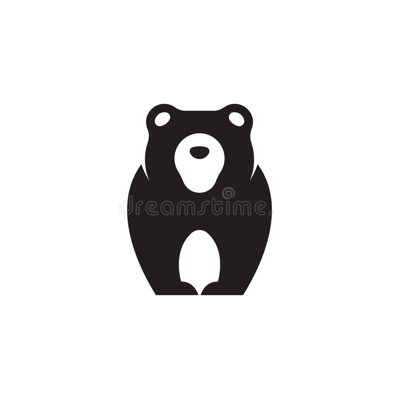 熊商标模板 熊您的事务的商标模板 向量例证