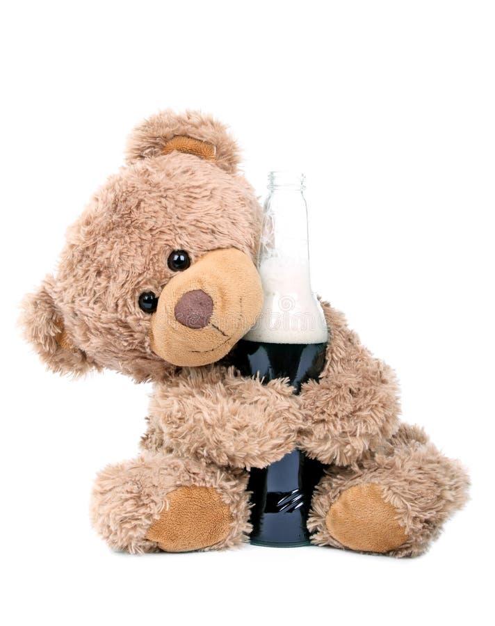 熊啤酒喜欢 库存图片