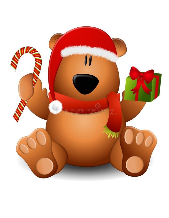 熊圣诞节女用连杉衬裤 皇族释放例证
