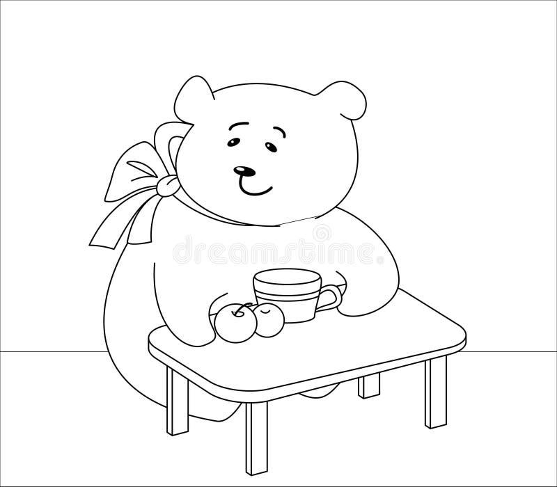 熊塑造外形女孩桃子 皇族释放例证