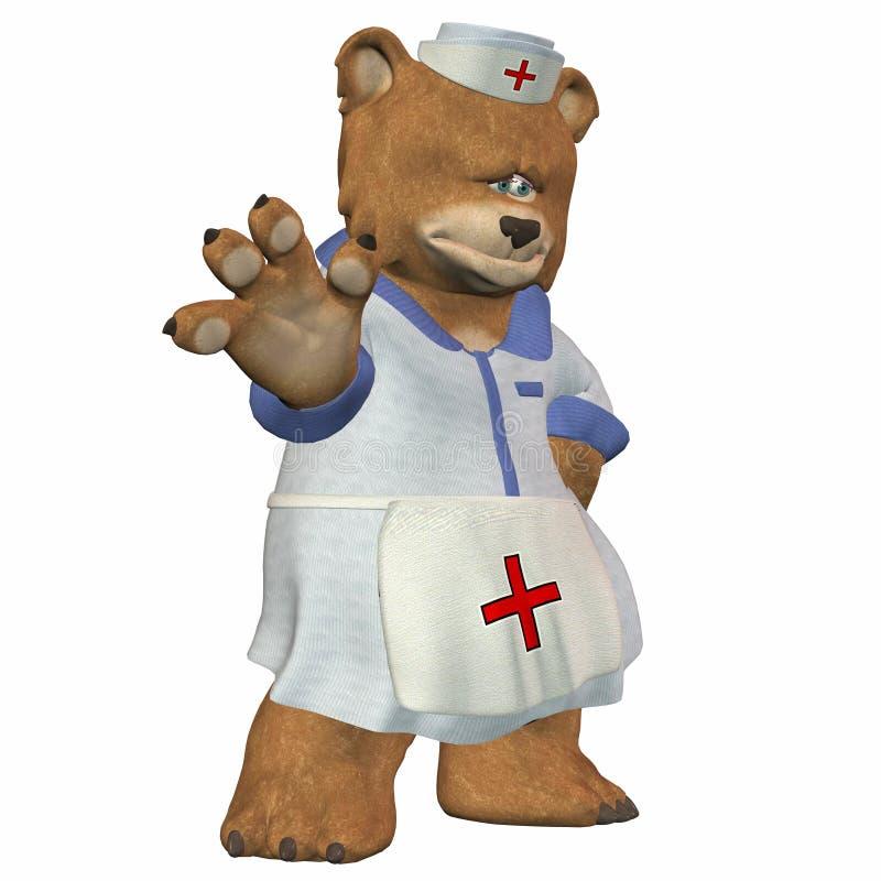 熊女性护士 向量例证