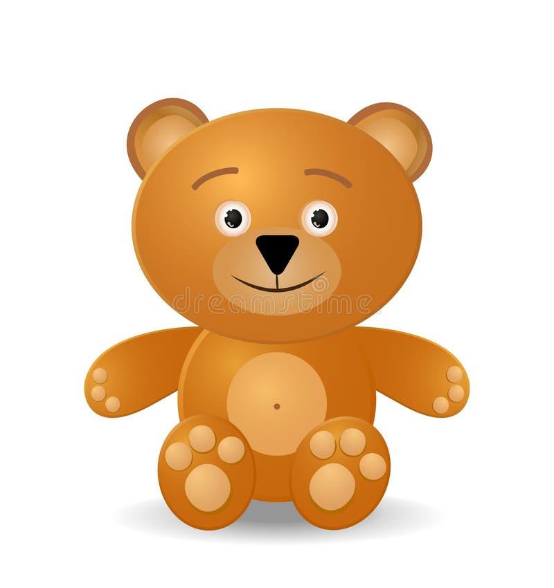 熊女用连杉衬裤玩具 向量例证
