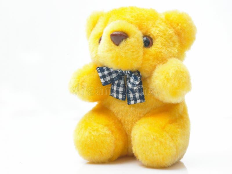 熊女用连杉衬裤黄色 库存照片