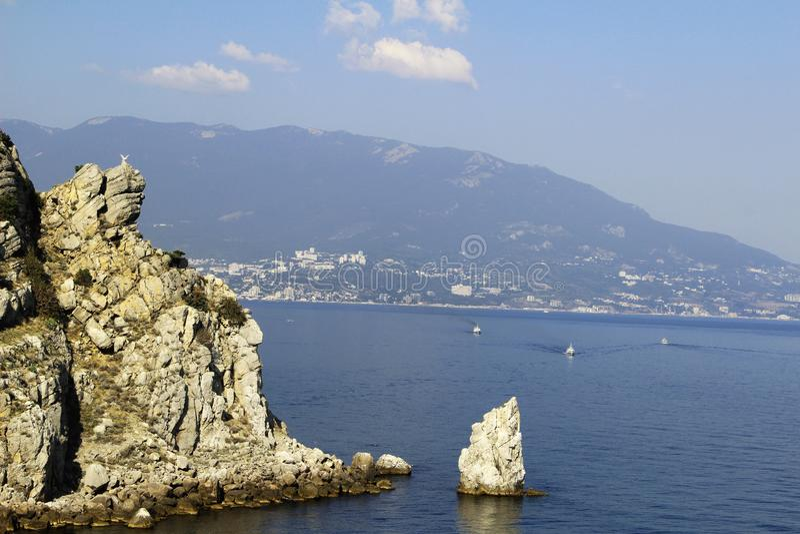 熊山在克里米亚,在黑海附近 图库摄影