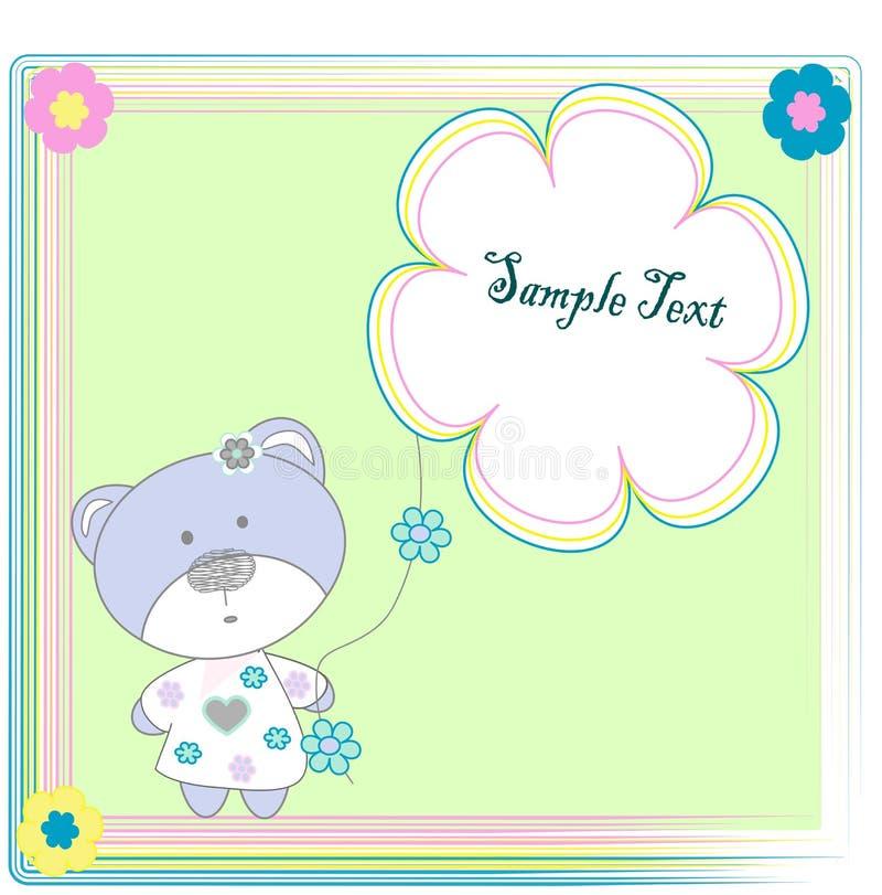 熊开花玩具 向量例证