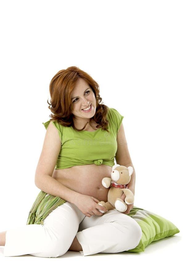 熊怀孕的女用连杉衬裤 免版税库存图片