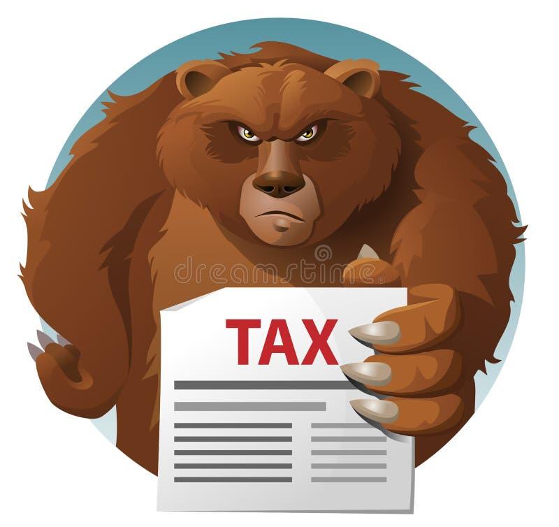 熊拿着税信件 皇族释放例证