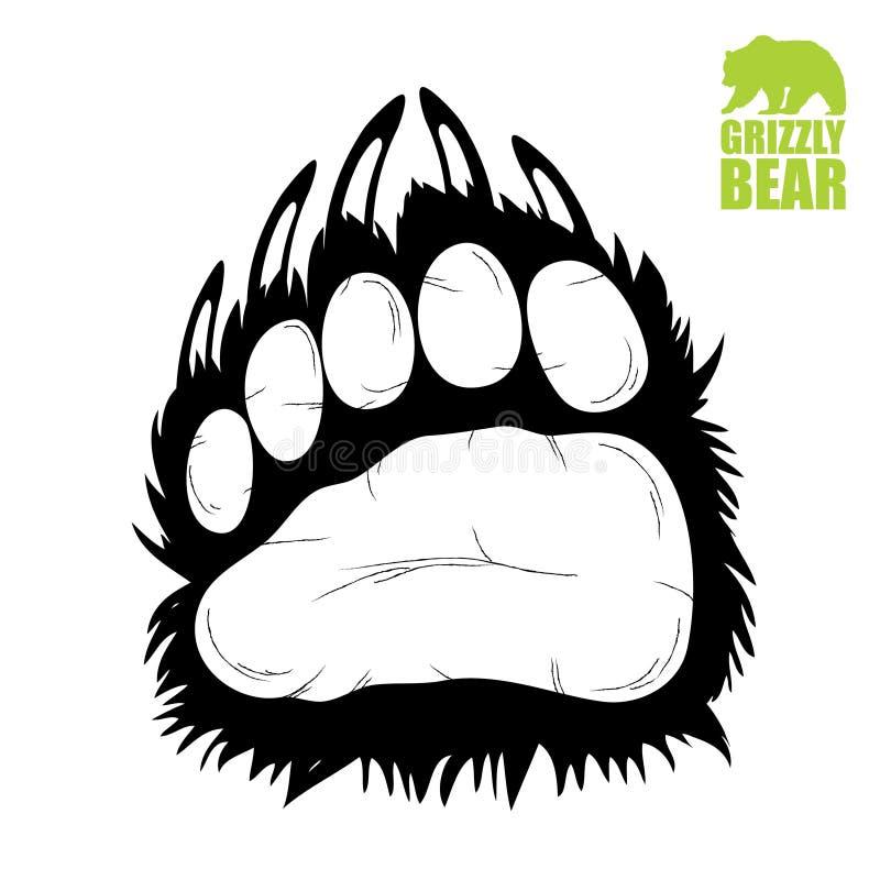 熊掌 向量例证