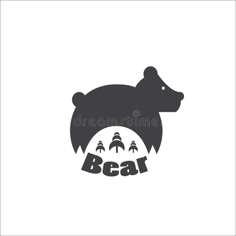 熊是森林大师  皇族释放例证
