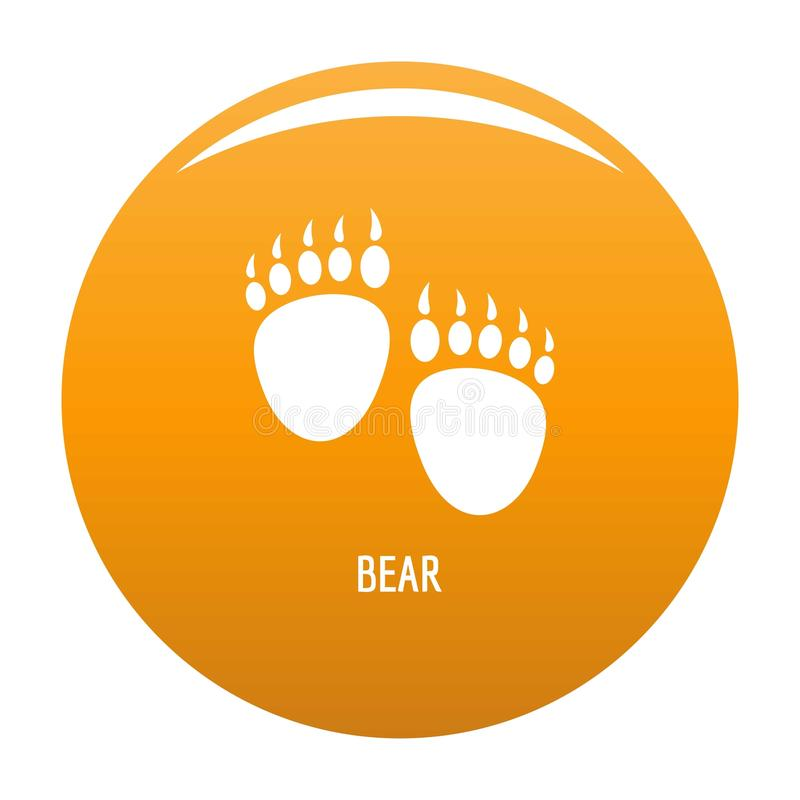 熊步象传染媒介桔子 向量例证