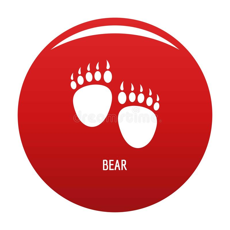 熊步象传染媒介红色 皇族释放例证