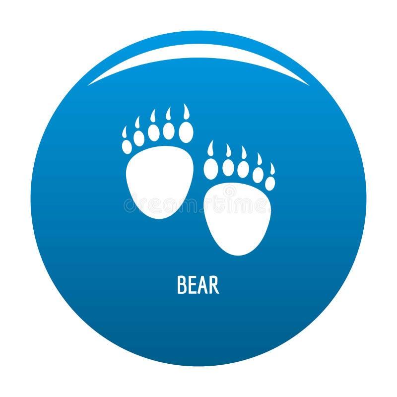 熊步象蓝色 库存例证