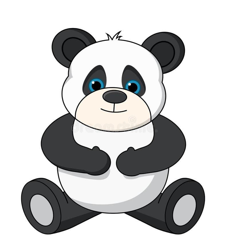 熊熊猫女用连杉衬裤 库存例证