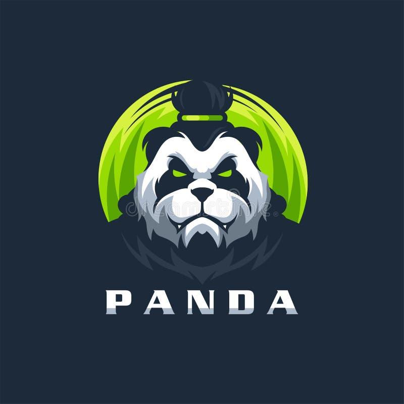 熊猫商标设计传染媒介立即可用例证的模板 库存例证