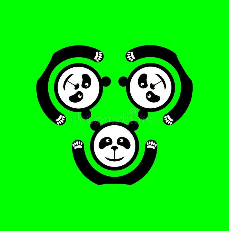 熊猫商标 库存图片