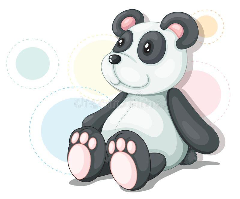 熊猫女用连杉衬裤 向量例证