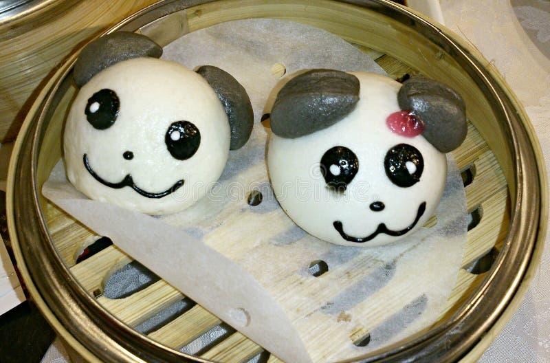熊猫小圆面包 免版税图库摄影