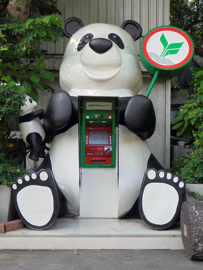 熊猫现钞机 图库摄影