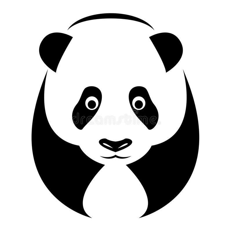 熊猫的向量图象 库存例证
