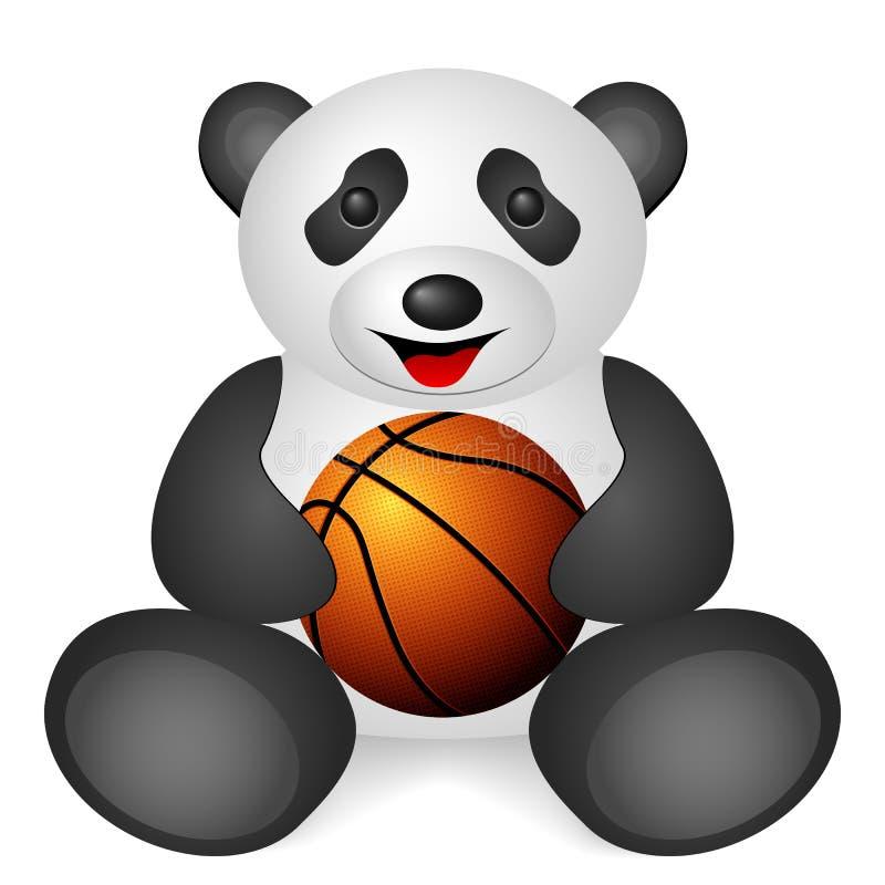 熊猫篮球球 向量例证