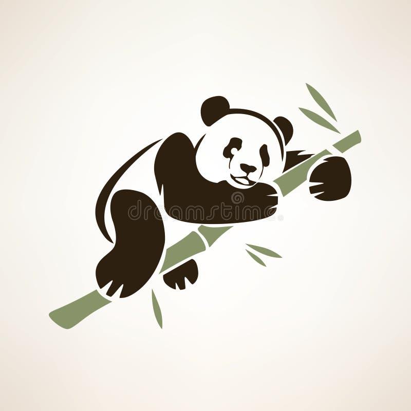熊猫被隔绝的标志 向量例证