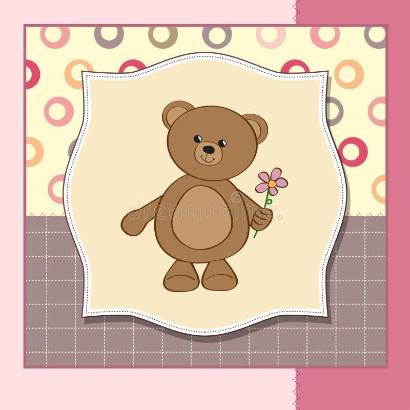 Download 熊生日贺卡花愉快的女用连杉衬裤 库存例证. 插画 包括有 艺术, 产生, 圈子, 抽象, 童年, 生日, 装饰 - 22350596