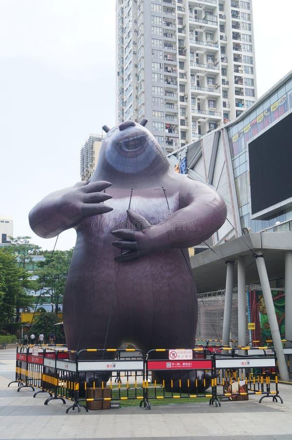 熊的雕象 免版税库存照片