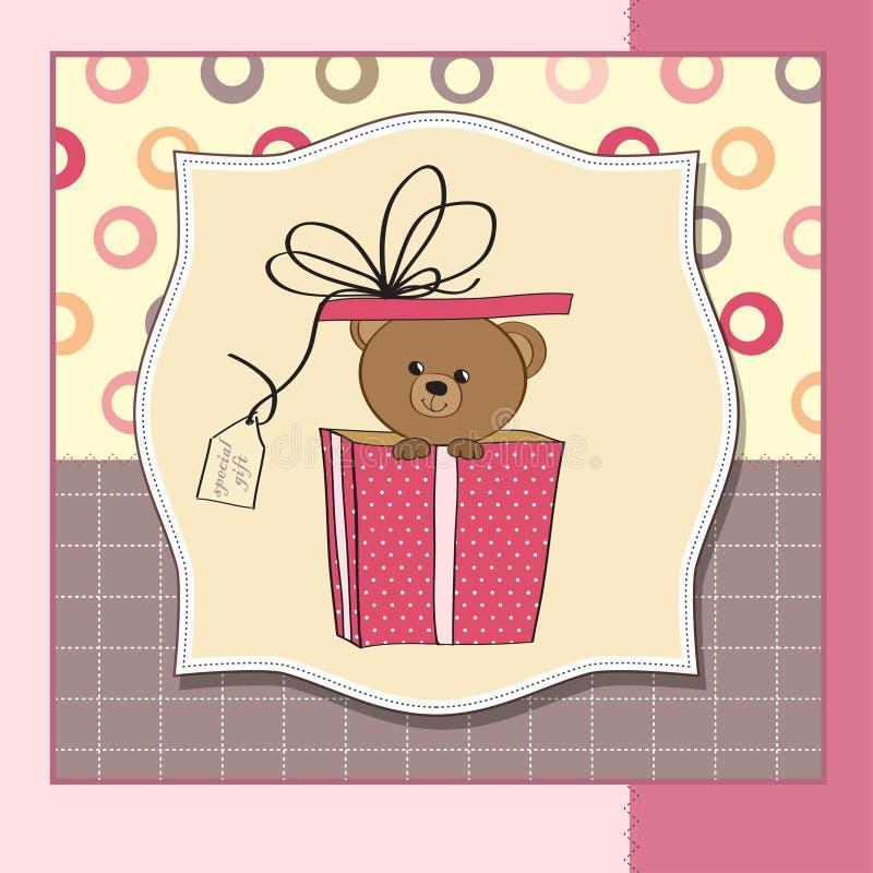 Download 熊看板卡逗人喜爱的问候女用连杉衬&# 库存例证. 插画 包括有 例证, 看板卡, 活动, 背包, 受影响 - 22350460