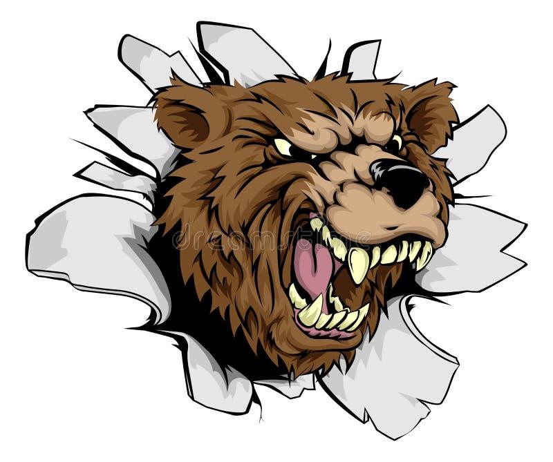 熊突破 向量例证