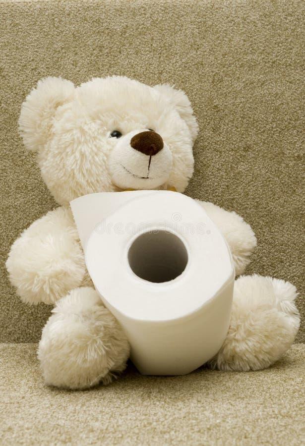 熊纸洗手间玩具 图库摄影