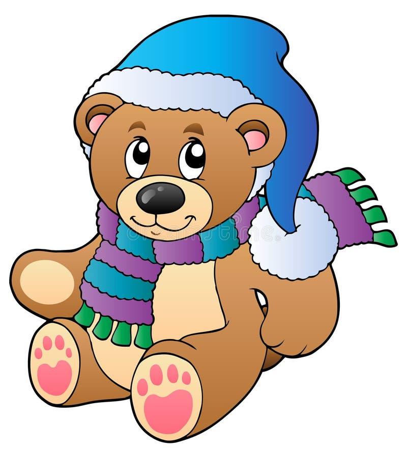熊给逗人喜爱的女用连杉衬裤冬天穿&# 皇族释放例证