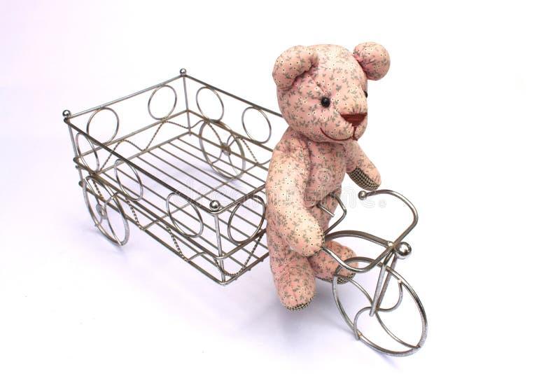 熊自行车 免版税库存图片