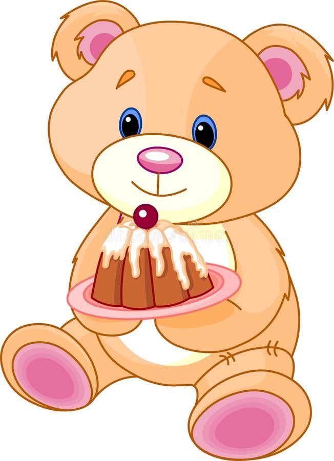 熊蛋糕女用连杉衬裤 向量例证