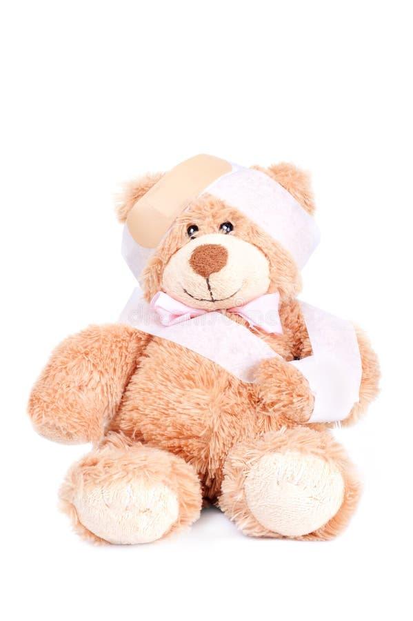 熊被伤害的甜女用连杉衬裤 免版税库存图片