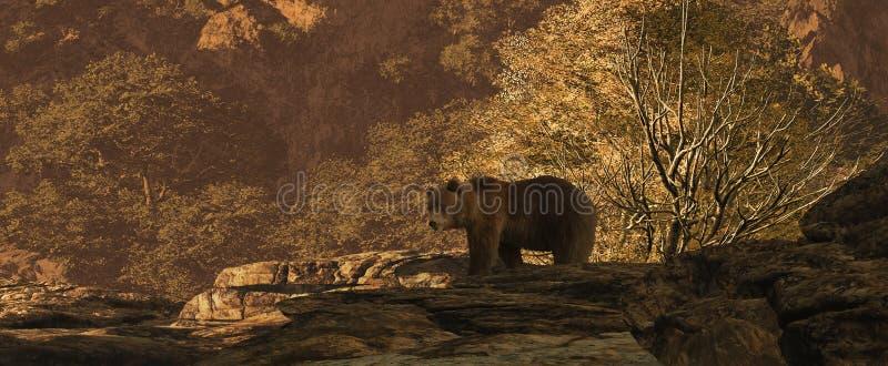 熊褐色 向量例证