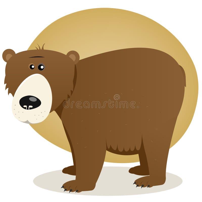 熊褐色 皇族释放例证