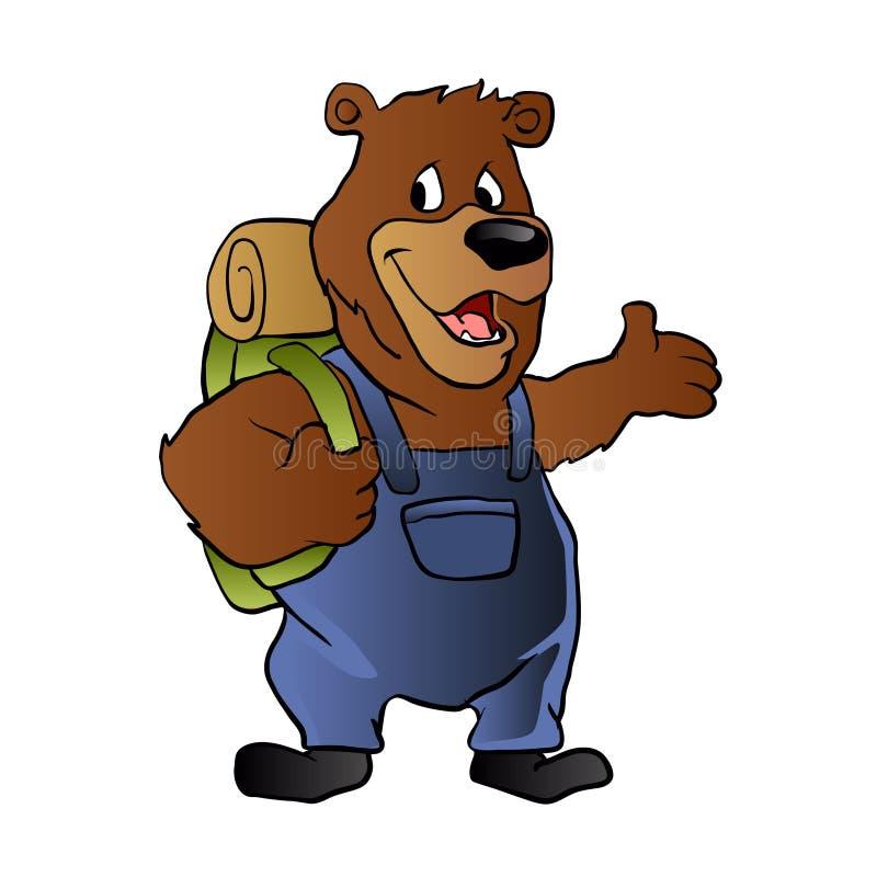 熊远足者 向量例证