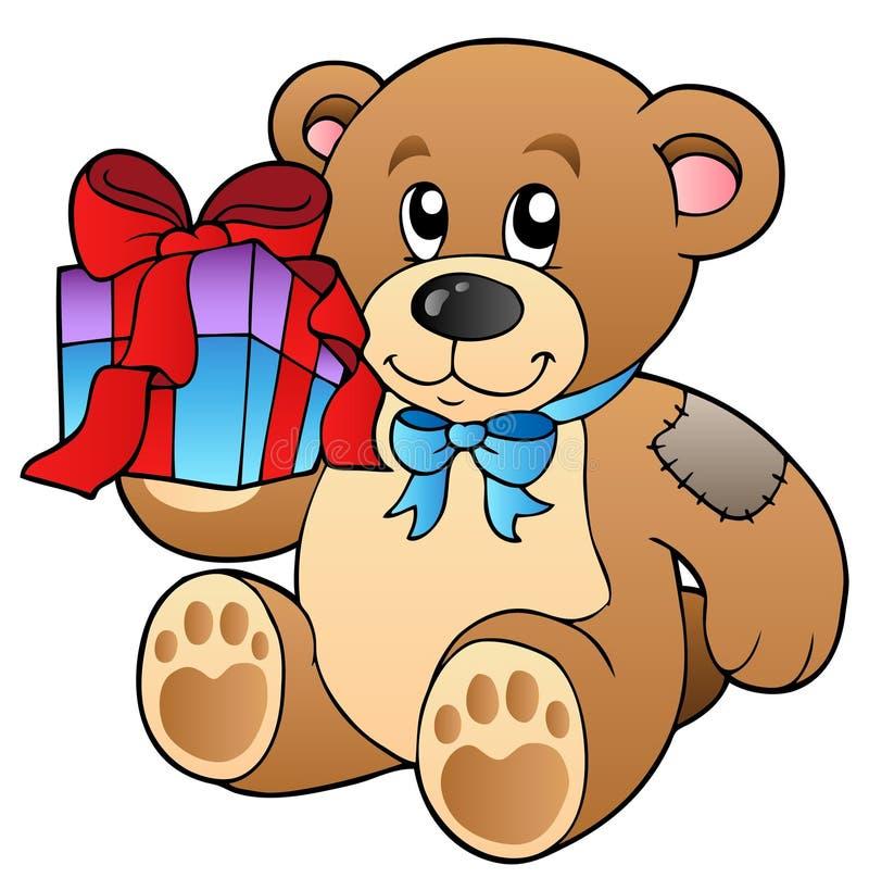 熊逗人喜爱的礼品女用连杉衬裤 皇族释放例证