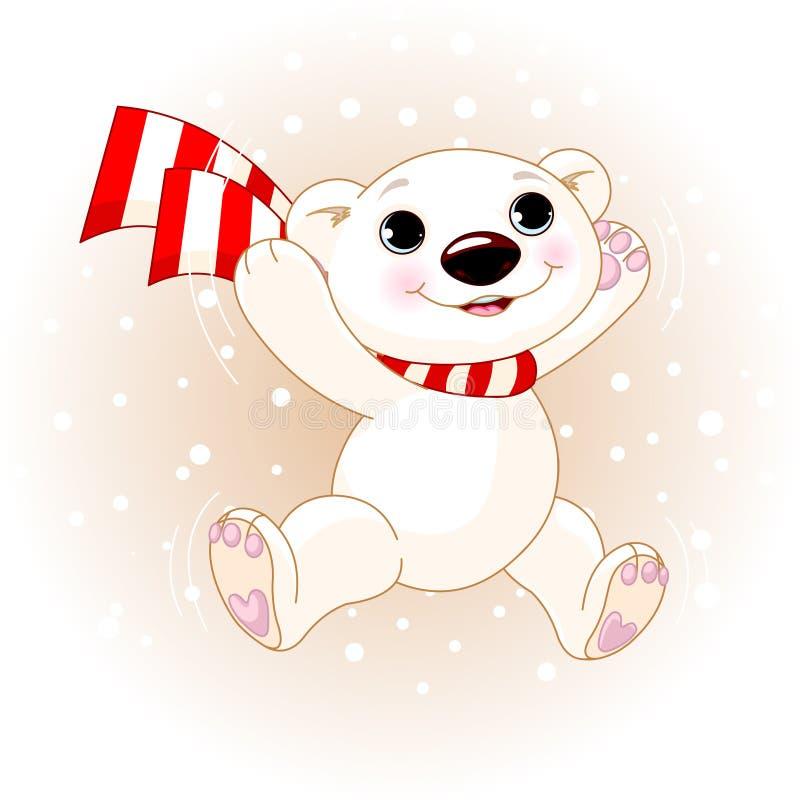 熊逗人喜爱跳极性 向量例证